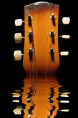 Reflection guitar — Stock Photo