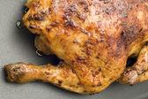 Roasting chicken close up — Stock Photo