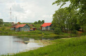 Russian village — Stockfoto