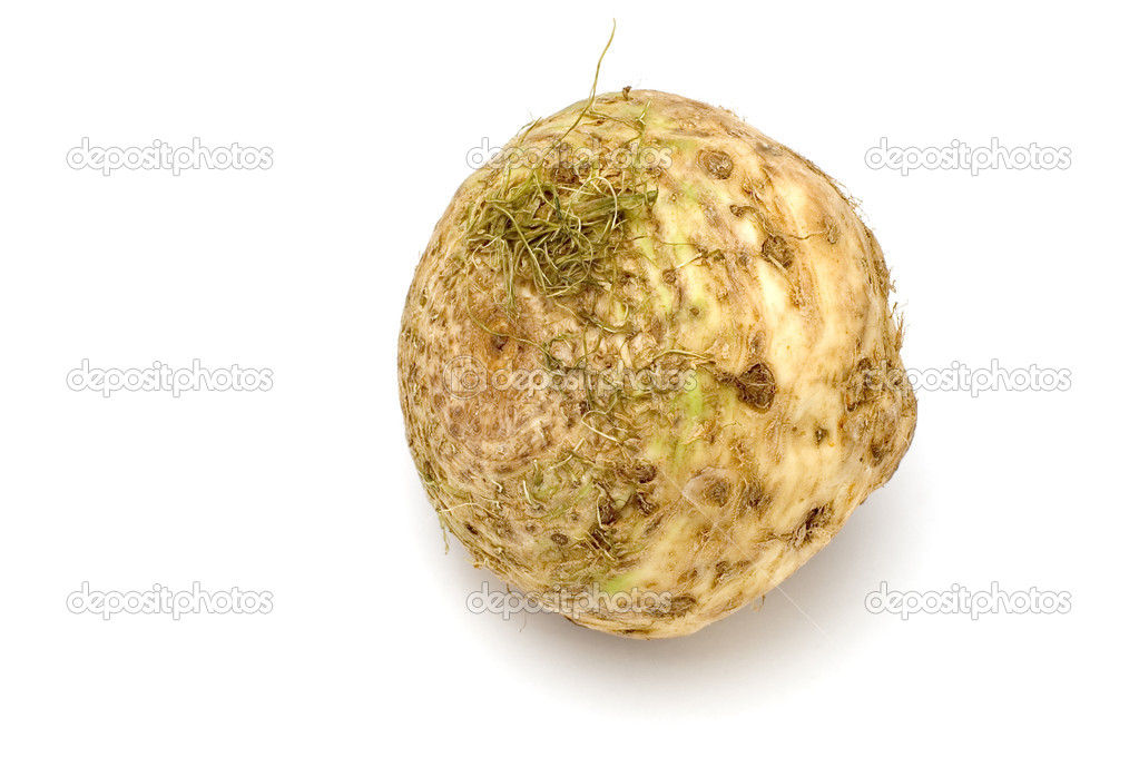 Series object on white - food - root celery — Stock Photo #1744133