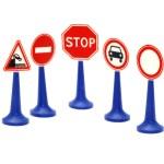 yol işareti ayarla — Stok fotoğraf
