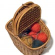 Basket with clew — Stock Photo