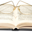 Stock Photo: Book with glasses