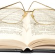 Book with glasses — Stock Photo