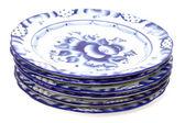 Blue plates — Stock Photo