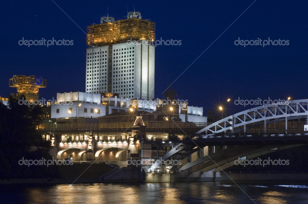 Russia Moscow building Academy of Sciences — Stock Photo #1757855