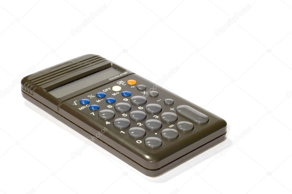 Series object on white calculator — Stock Photo #1759379