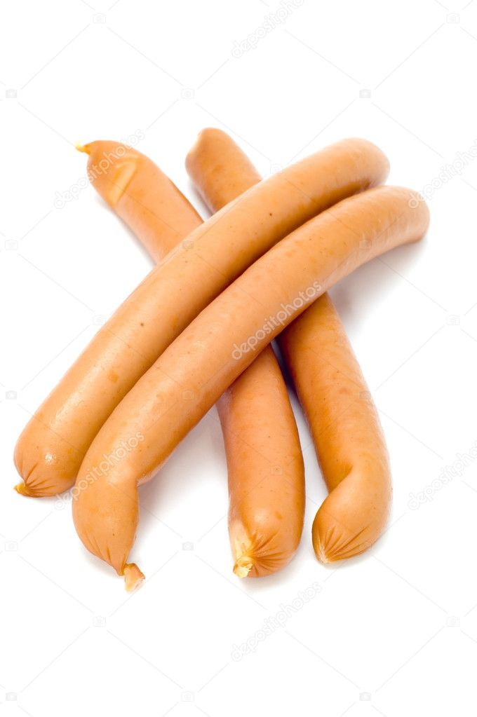 Series object on white: food sausage — Stock Photo #1763757