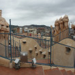 Gaudi house-top — Stock Photo