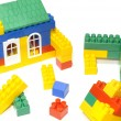 Meccano house — Stock Photo