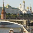 Moscow river and Kremlin — Stock Photo