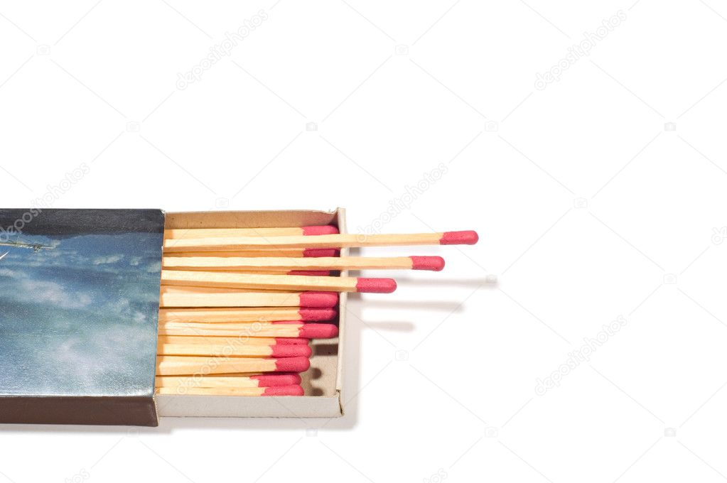 Series object on white: match box — Stock Photo #1777513