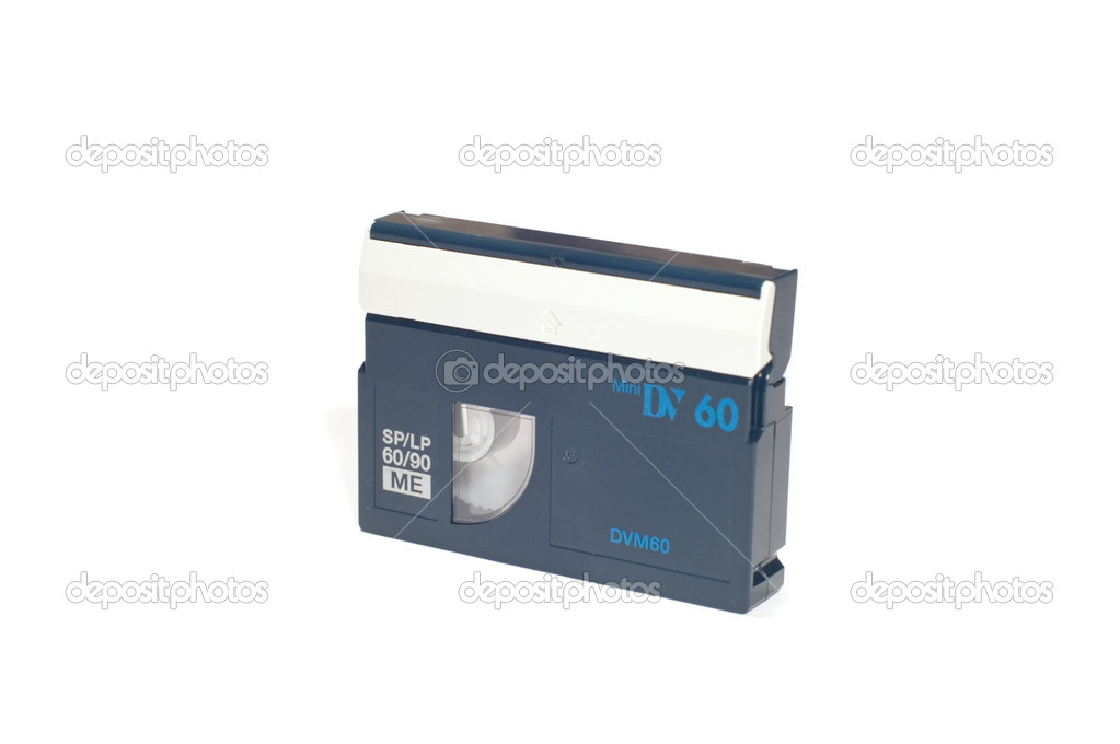 Series object on white: mini dv tape — Stock Photo #1777698