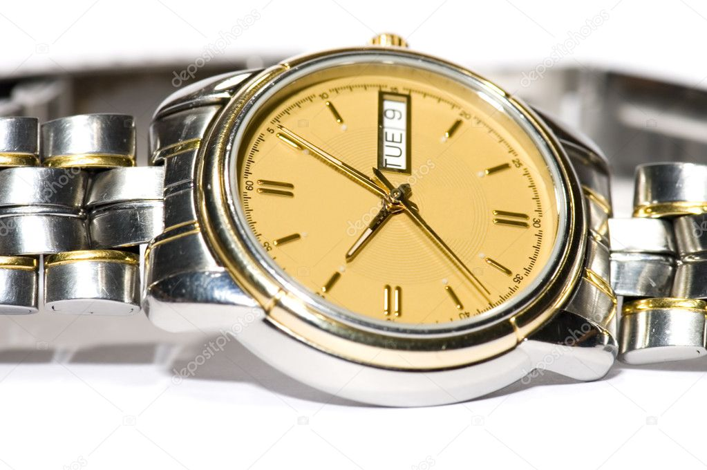 Series object on white - close up -Mans watch — Stock Photo #1783262