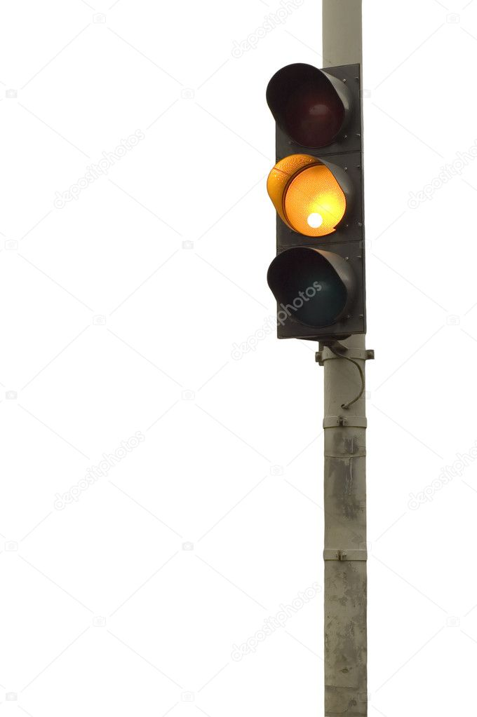 Series: isolated on white: light signal for automobile  — Stock Photo #1783964