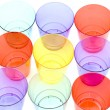 Colored plastic cups — Stock Photo