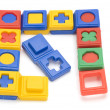 Stock Photo: Colored puzzle