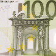 Euro banknote closeup — Stock Photo