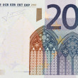 Euro banknote on white — Stock Photo
