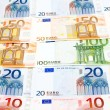 Euro banknote macro — Stock Photo
