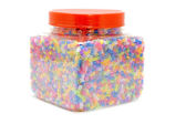 Color beads in box — Stock Photo