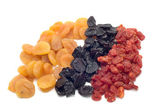 Colored dried fruits — Stock Photo