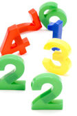 Colored number close up — Stock Photo