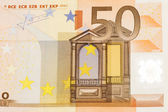 Billet en euros se bouchent — Photo