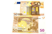 Euro bank-note close up — Stock Photo
