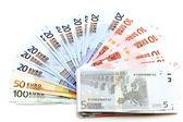 Euro on white — Stock Photo