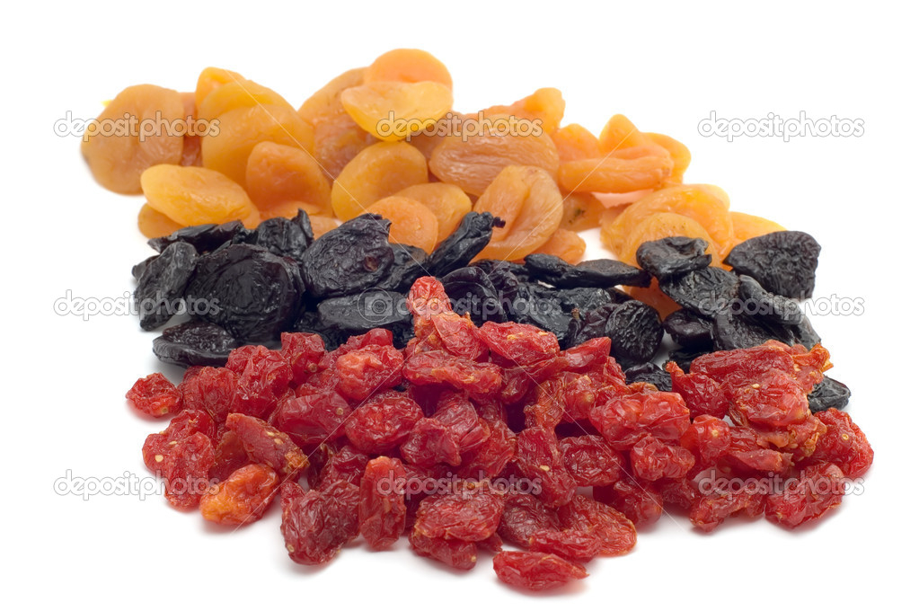Object on white food dried fruits — Stock Photo #1798265