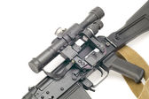 Hunting rifle with optic — Stock Photo