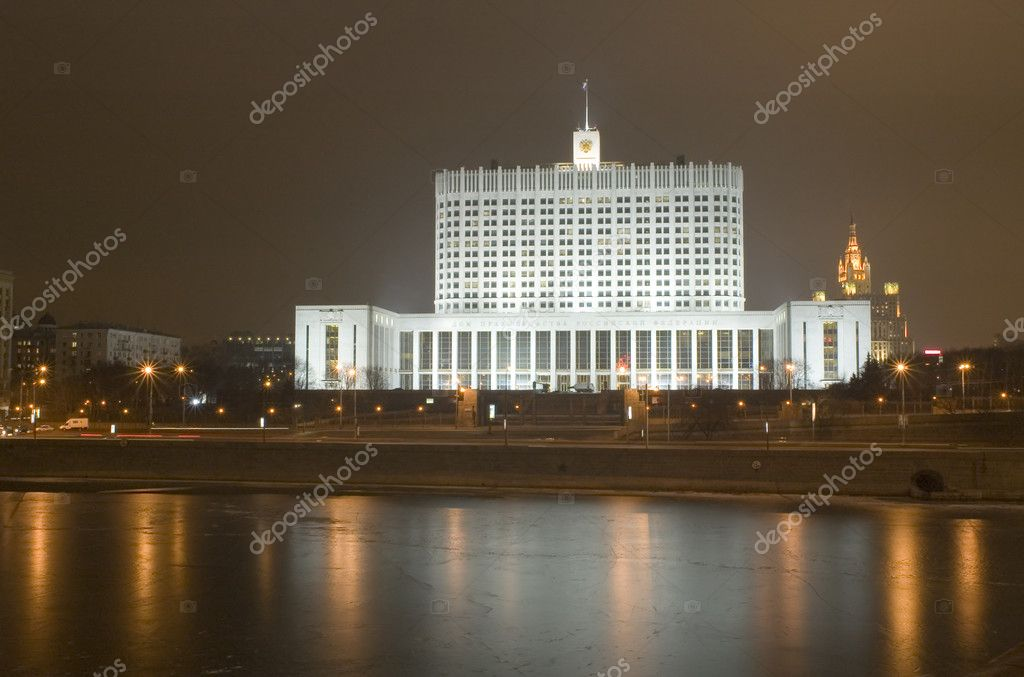 Russia Moscow House Russian government — Stock Photo #1808725