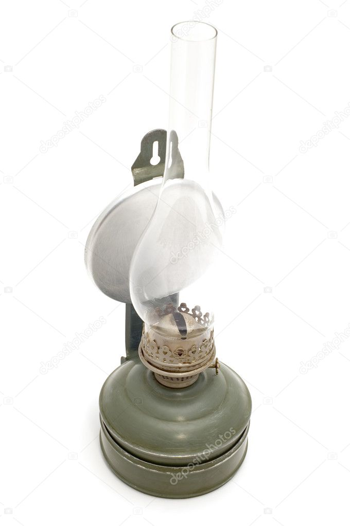 Object on white - tool - kerosene lamp — Stock Photo #1809001
