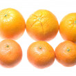 Mandarin and orange — Stock Photo