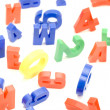 Number and letter macro — Stock Photo