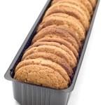 Oat pastry in box macro — Stock Photo #1813263