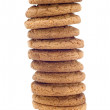 Oat pastry tower — Stock Photo