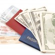 Passport with money — Stockfoto #1814091
