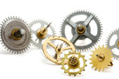 Metal clockwork — Stockfoto