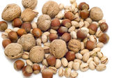 Nut on white background — Stock Photo