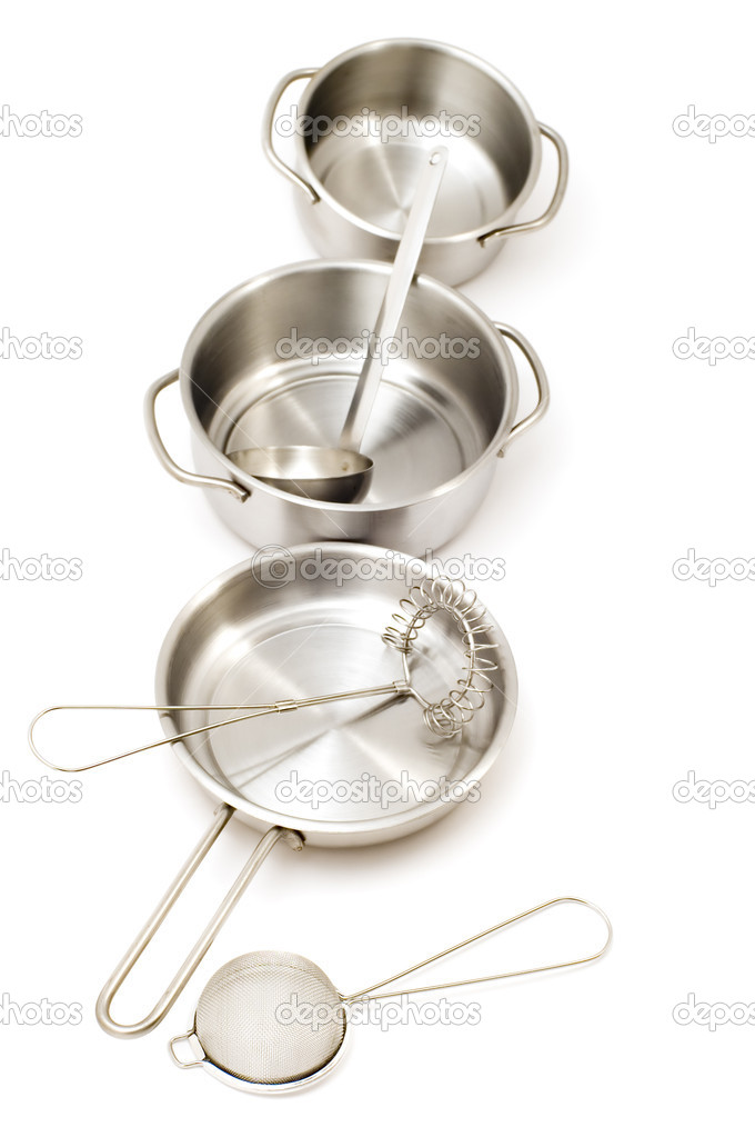 Object on white - Metal kitchen utensil — Stock Photo #1810583