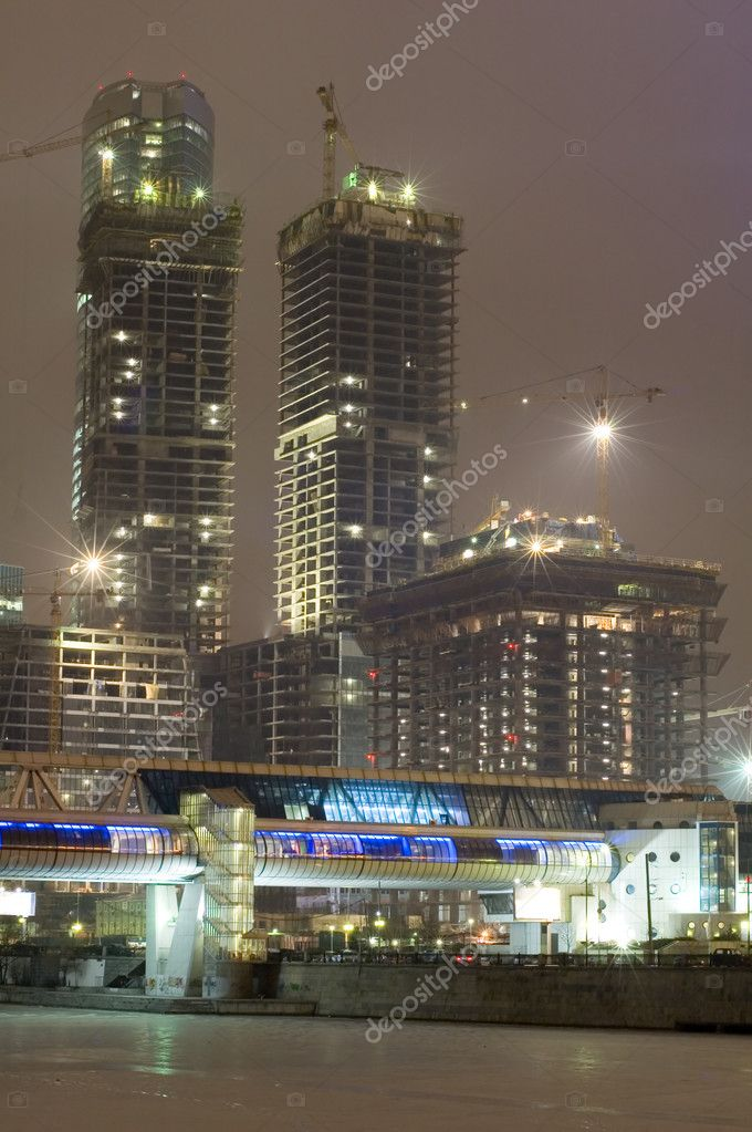 Russia. night Moscow new building project-skyscraper  Stock Photo #1812866