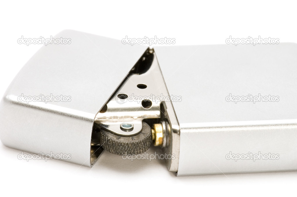 Object on white: tools - metal lighter — Stock Photo #1813657