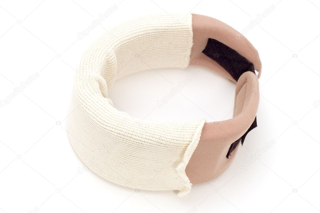 Object on white - medical tool orthopedic collar — Stok fotoğraf #1813873