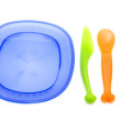 Set of plastic ware — Stock Photo