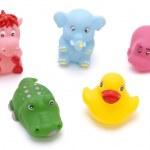 uppsättning av gummi leksak — Stockfoto