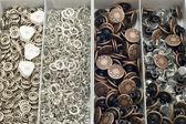 Set of Metal button — Stock Photo