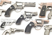 Set of pistols lighter — Stock Photo