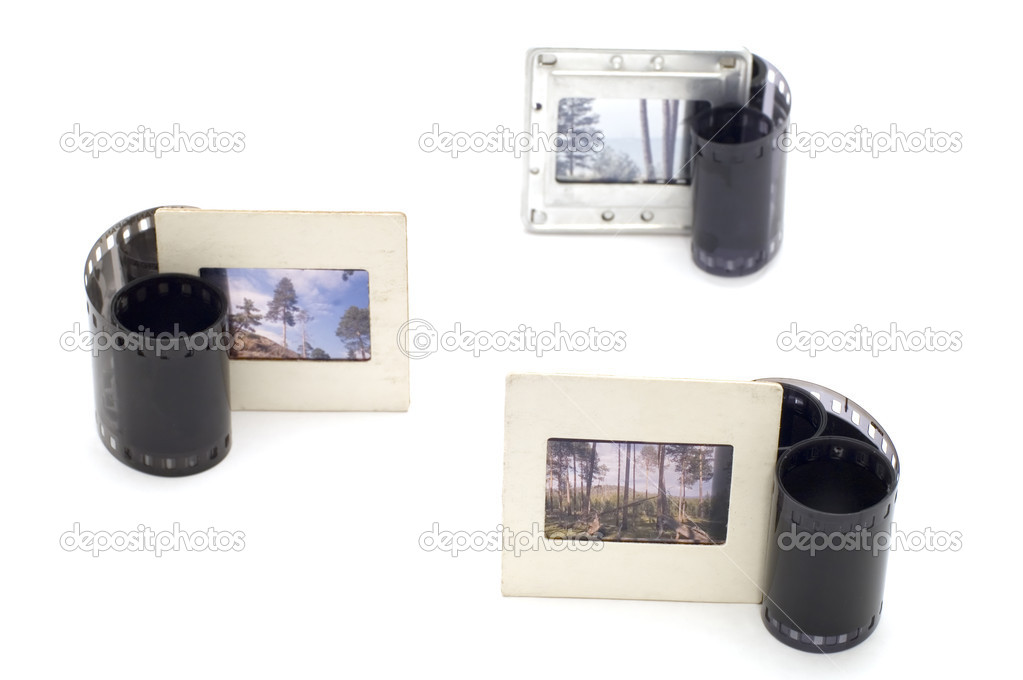 Series object on white - photographic film — Stock Photo #1828860
